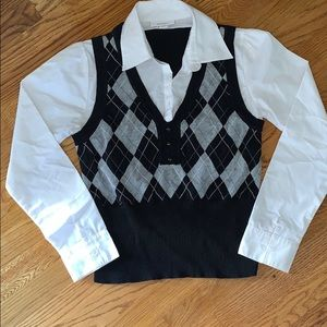 Ladies Dressbarn Sweater Vest Blouse | Medium